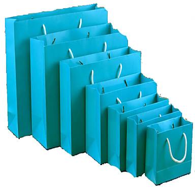 spot high-end lahja laukku vaate laukku käsilaukku mukautetun sinivihreä lehtimainonta pussit pakkaus viisi yksiväriset