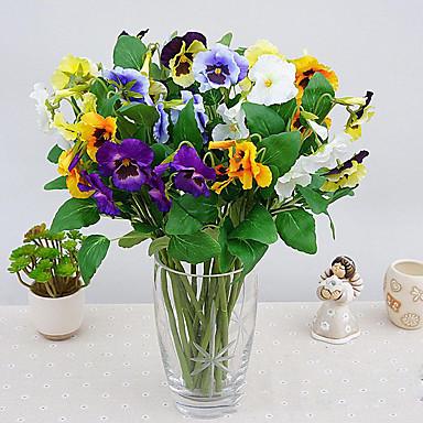 1 1 Afdeling Polyester / Plastik Orkideer Bordblomst Kunstige blomster 16.1inch/41cm