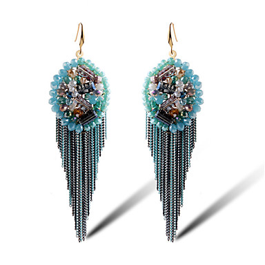 Frynsetip(s) Legering Blomstformet Blå Smykker For Daglig 1 par