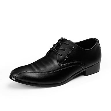Herre sko PU Vår / Høst Komfort Oxfords Gange Svart
