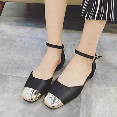 Sandaalit-Tasapohja-Naisten-Tekonahka-Musta / Harmaa-Ulkoilu-Comfort