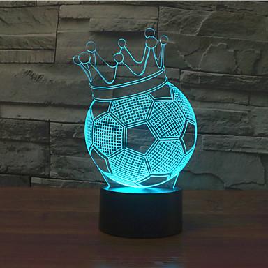 1pc røre 3 d ført farverige vision lampe gave atmosfære bordlampe skifter farve nat lys