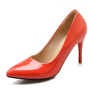 povoljno Ženske cipele-Žene Cipele na petu Stiletto potpetica Na točkice Sintetika / Lakirana koža / Umjetna koža Udobne cipele / Inovativne cipele / Obične salonke Hodanje Proljeće / Ljeto žuta / Bež / Crvena / Vjenčanje