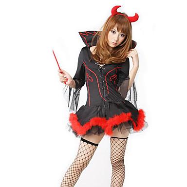 Cosplay Kostumer Festkostume Engel & Djævel Zombie Vampyr Festival/Højtider Halloween Kostumer Vintage Kjole Halloween Jul Karneval Nytår