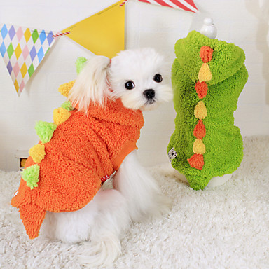 Hund Kostume Dragter Hundetøj Cosplay Hold Varm Rød Grøn