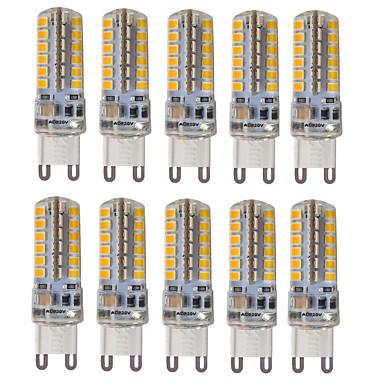 HKV 10pcs 3 300-350 lm G9 Luces LED de Doble Pin T 48 leds SMD 2835 Impermeable Decorativa Blanco Cálido Blanco Fresco Blanco Natural AC