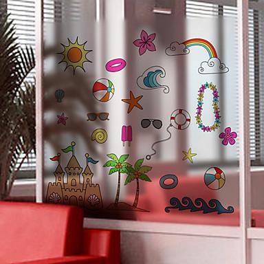 Art Deco Moderna Película para Vidros, PVC/Vinil Material Decoração de janela Sala de Jantar Quarto Escritório Quarto das Crianças Sala