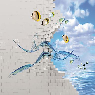 Art Deco 3D Haus Dekoration Moderne Wandverkleidung, Segeltuch Stoff Klebstoff erforderlich Wandgemälde, Zimmerwandbespannung