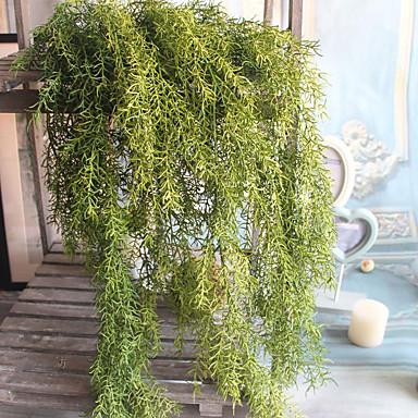 1 1 Tak Polyester / Kunststof Planten / Overige Bloemen voor op de muur Kunstbloemen 25.59Inch/65cm