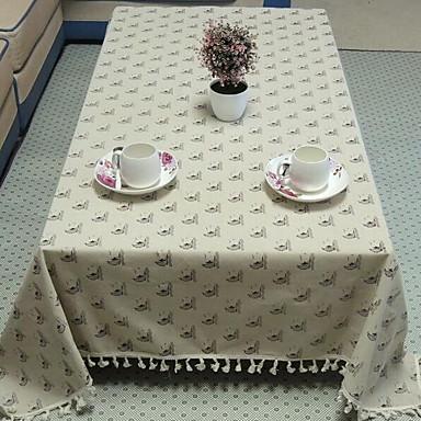 Quadrada Floral Estampado Toalhas de Mesa , Linho/Mistura de Algodão Material Hotel Mesa de Jantar Decorando o seu Lar 1