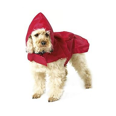 Katze Hund Regenmantel Hundekleidung Wasserdicht Solide Schwarz Rot Blau Kostüm Für Haustiere