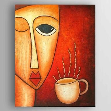håndmalede olie malerier moderne abstrakt kaffe wonen lærred indretning klar til at hænge