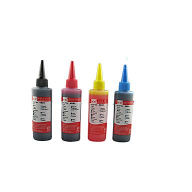 compatível com a impressão hp ink100ml um pacote de 4 caixas, cada caixa de cores diferentes, a saber: preto, vermelho, amarelo, azul