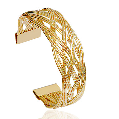 Dame Armbånd Mode Legering Cirkelformet Sølv Gylden Smykker For Bryllup Fest 1 Stk.