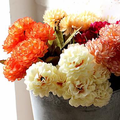 1 Ast Polyester Kunststoff andere Tisch-Blumen Künstliche Blumen