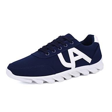 Sneakers-Tyl-Komfort-Unisex-Sort Blå-Fritid-Flad hæl