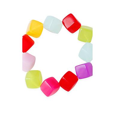 Dames Strand Armbanden Modieus Legering Rechthoekige vorm Regenboog Sieraden Voor 1 stuks