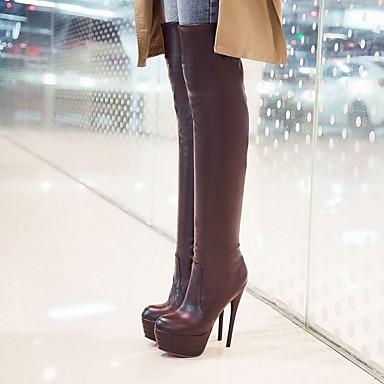 Similicuir 05205121 Automne Talon Confort Marche Femme Basique Chaussures Bottes Escarpin Nouveauté Aiguille Hiver Microfibre Synthétique q4fwE1w6ax