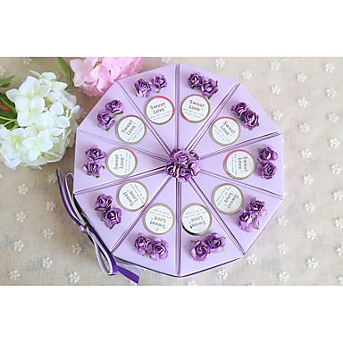 Zylinder Kartonpapier Geschenke Halter mit Schleife Bänder Blume Geschenkboxen