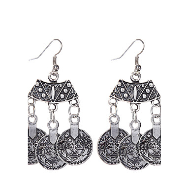 Damen Tropfen-Ohrringe / Anhängerketten - versilbert Personalisiert, Klassisch, Retro Silber Für Party / Normal
