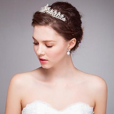 Imitatieparel Legering tiaras hikinauhat Hiustyökalu Kranssit 1 Bruiloft Speciale gelegenheden  Causaal Helm