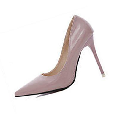 Mulheres Sapatos Couro Ecológico Outono Saltos Salto Agulha Vermelho / Verde / Rosa claro