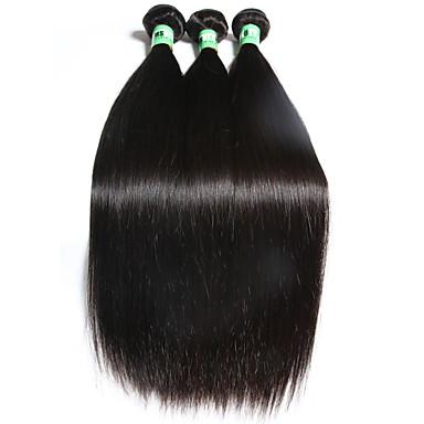 Menneskehår, Bølget Brasiliansk hår Lige 3 Dele hår vævninger