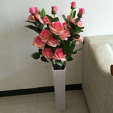 Flores artificiais 1 Ramo Estilo Moderno Rosas Flor de Chão