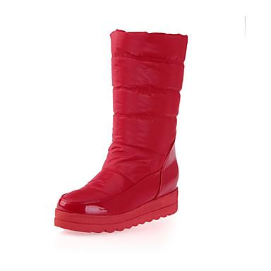 Støvler-PUDame-Sort Blå Rød Hvid-Formelt-Flad hæl