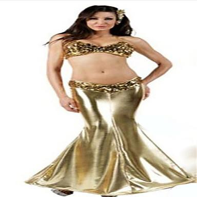 Havfruehale Eventyr Cosplay Kostumer Festkostume Kvindelig Halloween Karneval Festival/Højtider Halloween Kostumer Ensfarvet Blonde