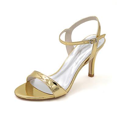 Doré amp; Talon Printemps Evénement Chaussures Bleu Mariage 05188253 Cuir Argent Aiguille Verni Femme Soirée Sandales Eté xHvqdtFFn6