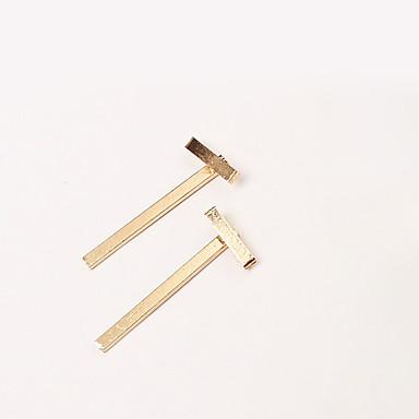 Øreringe Geometric Shape / Alphabet Shape Stangøreringe Smykker 1 par Mode Daglig / Afslappet Legering Dame Gylden / Sølv
