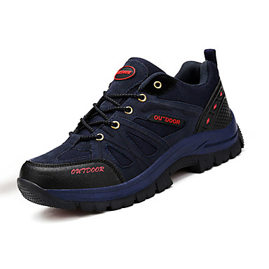 Sneakers-Ruskind Tyl-Komfort-Herre-Blå Brun Grøn Grå-Sport-Flad hæl