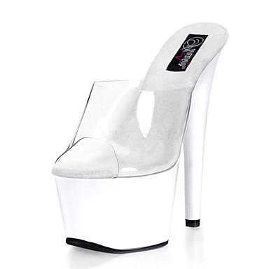 Femme Blanc de Chaussures club Talons Noir à Chaussures Chaussures PVC Automne Plateau 05226842 Talon Chaussures Lumineuses Aiguille Eté rrZqw0p