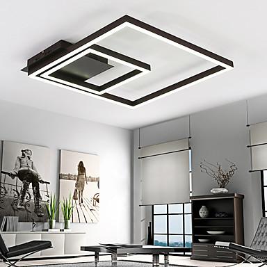 Lineær Takplafond Omgivelseslys Malte Finishes Metall Akryl Mulighet for demping, LED 90-240V Varm Hvit / Hvit LED lyskilde inkludert / Integrert LED