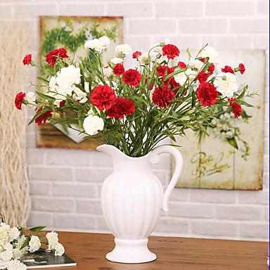 1 1 Ast Polyester / Kunststoff Nelken Tisch-Blumen Künstliche Blumen 27.9*inch/71cm