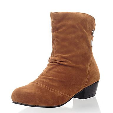 Dame-Kunstlær-Lav hæl-Snøstøvler-Støvler-Formell-Svart Gul Grønn Grå