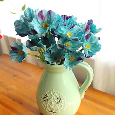 Kunstige blomster 10 Gren Europeisk Stil Evige blomster Bordblomst