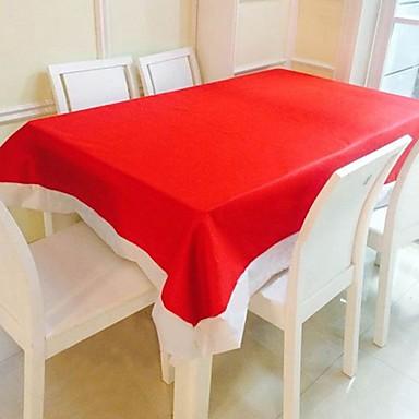 Suorakulma Yhtenäinen Table Cloths , Cotton Blend materiaali Joulu Sisustus Favor Taulukko Dceoration Illallinen sisustus Favor