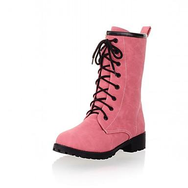 Hæle-Syntetisk laklæder Kunstlæder-Kampstøvler Cowboystøvler Snowboots Ankelstøvler Ridestøvler Modestøvler Motorcykelstøvler-Dame-Blå