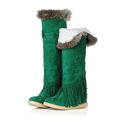 Støvler-Kunstlæder-Plateau Snowboots Modestøvler-Dame-Sort Brun Gul Grøn Kaki-Fritid Fest/aften-Platå