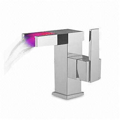 Håndvasken vandhane - Termostatisk Krom Basin Enkelt håndtag Et Hul