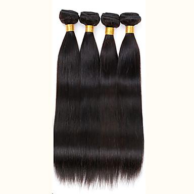 Peruvian Virgin Hair 4pcs 200g Straight Human Hair Weaves Natural Black Peruvian Straight Hair 8-26 inch