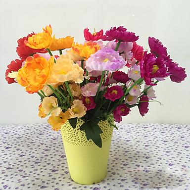 1 1 haara Polyesteri / Muovi Pioonit / Others Pöytäkukka Keinotekoinen Flowers 14.96Inch/38cm