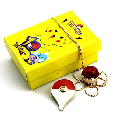 Jóias Inspirado por Pocket Little Monster PIKA PIKA Anime Acessórios de Cosplay Colares Broche Vermelho Amarelo Azul LigaMasculino
