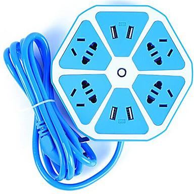 Stasjonær lader USB-lader Us Plugg / Eu Plugg Flere porter 4 USB-porter 2.1 A / 2.5 A / 1 A til