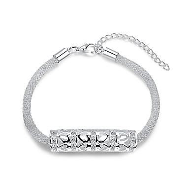 Dames Armbanden met ketting en sluiting Liefde Modieus Luxe Sieraden Europees Sterling zilver Juweeltje Verzilverd Legering Cirkelvorm Wit