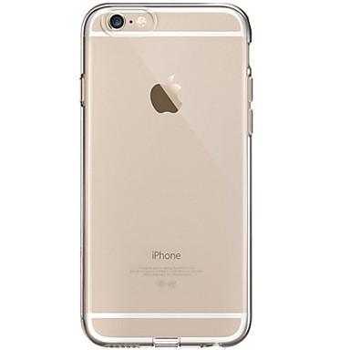 Pouzdro Uyumluluk Apple iPhone 8 iPhone 8 Plus Şeffaf Arka Kapak Tek Renk Yumuşak TPU için iPhone 8 Plus iPhone 8 iPhone 7 Plus iPhone 7