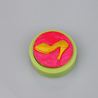 Sapatos de salto alto design hot venda de ferramentas de fundição de fondant de silicone bolo decoração cor aleatória