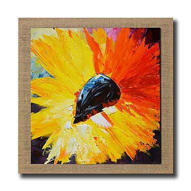 Pintados à mão Abstracto / Vida Imóvel / Paisagens Abstratas / Fantasia / Floral/Botânico Pinturas a óleo,Modern / Realismo 1 Painel Tela
